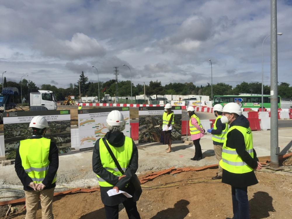 Acto oficial de inicio de los trabajos para el soterramiento de la glorieta de la M-503