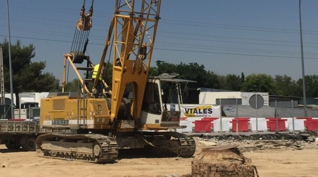 Comienzan los trabajos de pilotaje en la obra de soterramiento de la glorieta de la M-503 en Pozuelo de Alarc�n