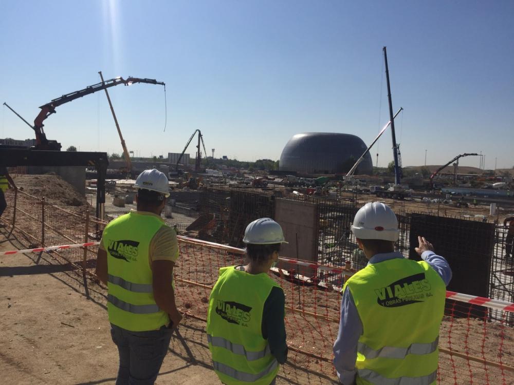 El Consejero del Gobierno regional de Madrid visita las obras de Viales y Obras Públicas del nuevo Hospital de Emergencias Isabel Zendal