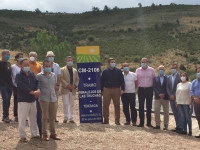 Inauguración de la Remodelación de la CM-2106 de Peralejos de las Truchas a Terzaga