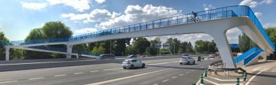 Madrid Calle 30 confía a Viales y Obras Públicas la Rehabilitación de la Pasarela Peatonal Fuentelarreina sobre la M-30