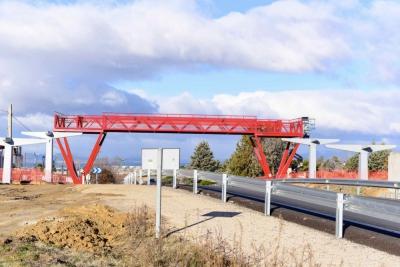 La empresa Viales y Obras Públicas, S.A. termina con las obras de construcción de Pasarela Peatonal sobre la Carretera M-513 en Boadilla del Monte, por un importe de 578.199 ?.