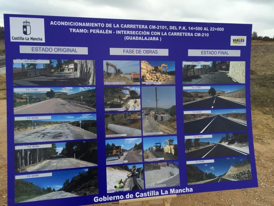 Acondicionamiento carretera CM-2101, del P.K. 14,500 AL 22,000. Tramo: Peñalen- Interseccion con la carretera CM-210 (Guadalajara)