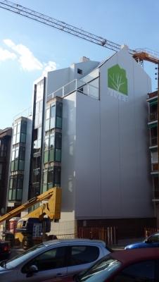 imagen Construcción de bloque de 9 viviendas en la calle Palomeras nº 15, D.M. Vallecas (Madrid).