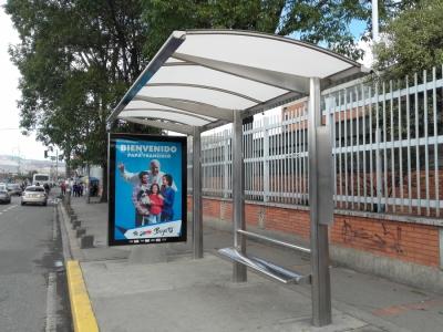 imagen Construccion de paraderos, señales y obras civiles para la implementacion del sistema integrado de transportes público SITP en Bogotá D.C (COLOMBIA)